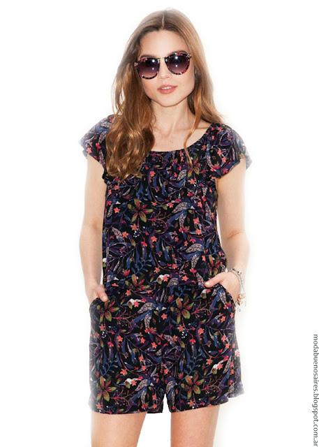 Monos verano 2017 ropa de mujer Asterisco. Moda primavera verano 2017.