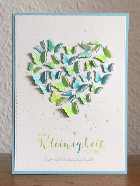 """""""Butterfly Heart"""" Memory Box,  """"Eine Kleinigkeit für dich"""" Papierwerkstatt by Susanne König"""