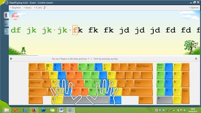 Rapid Typing software belajar mengetik 10 jari