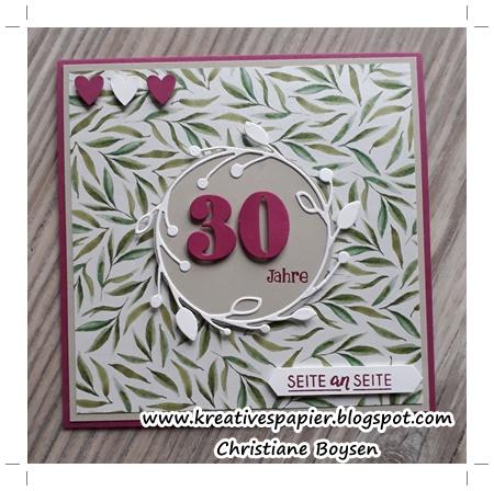 30 Hochzeitstag Perlenhochzeit | Kreatives Aus Papier 30 Hochzeitstag Perlenhochzeit