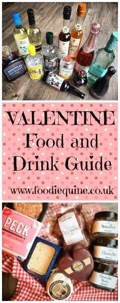 Foodie Quine Luxury Valentine Food and Drink Guide 14th February 2017 Steak, Champagne, Gin, Cheese, Honey, Prosecco, Beer, Liquers, Wine.