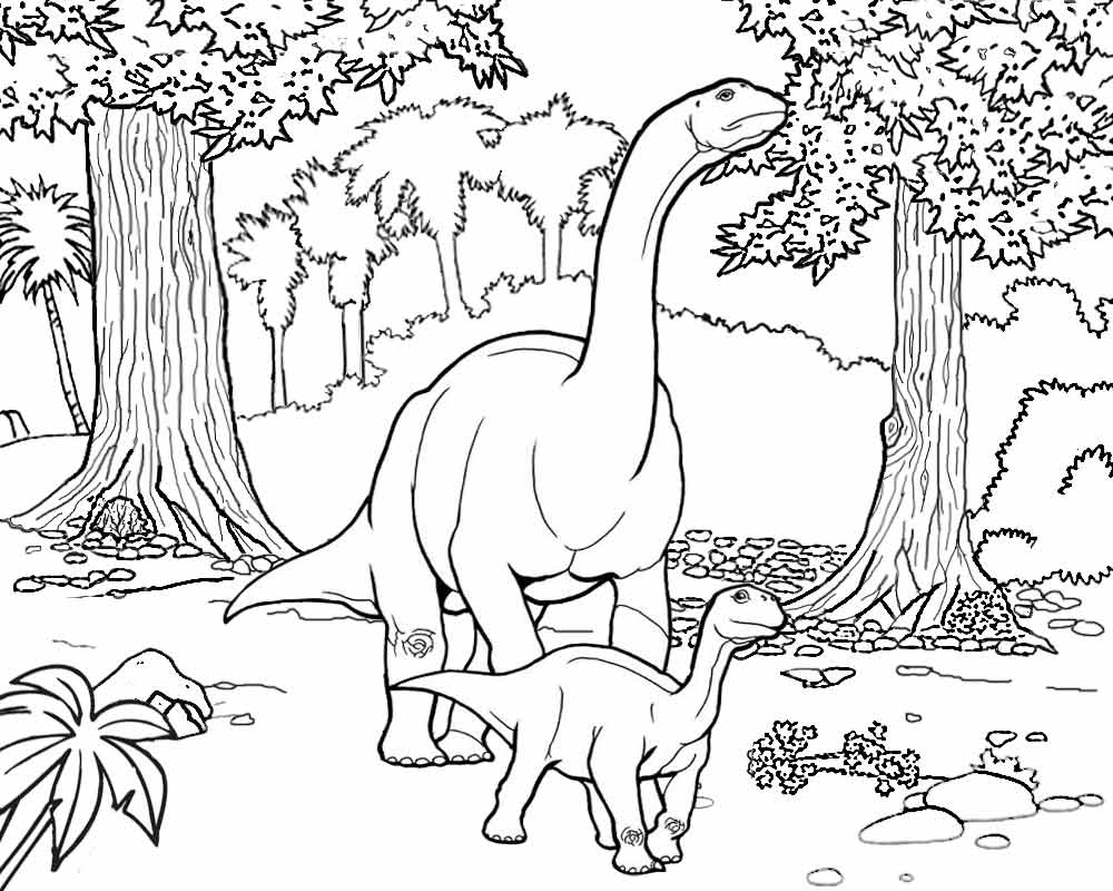 Dinosaur Fossil: Dinosaur Fossil Coloring Pages