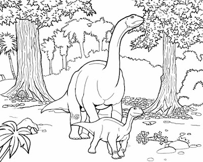 Jurassic herbivore extinct prehistoric land animals Camarasaurus Sauropoda dinosaur drawing to color