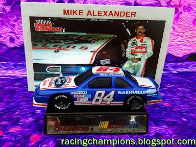 Mike Alexander #84 Nashville Ford NASCAR Racing Champions diecast blog BGN Cup Series Track age