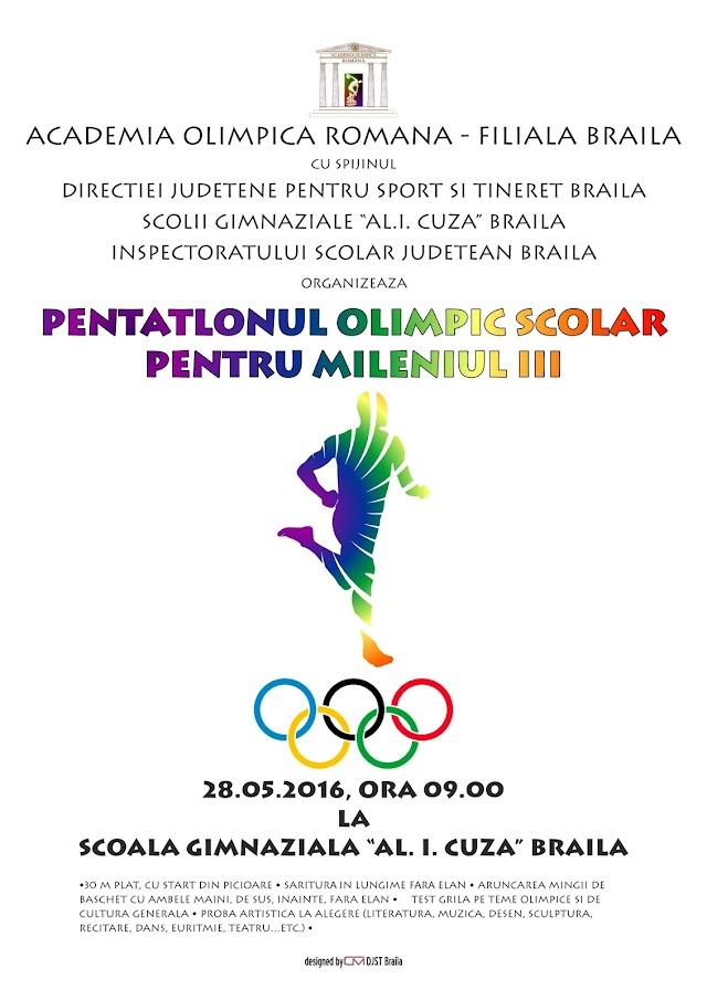 """In cadrul Lunii Olimpice: """"Pentatlon Olimpic pentru Mileniul III"""""""
