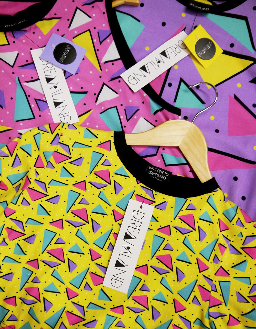 studio visit, designer studio, local designer, Scottish designer, Dundee designer, Dreamland, Dreamland Clothing label, colourful design, Wasps Artists Studios, Dundee Artist studios, Kickstarter Campaign, saved by the bell inspired clothing, Kickstarter, shop local