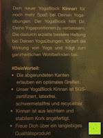 Information: Yoga-Korkblock »Kinnari« / Yogaklotz aus 100% Natur-Kork, ideal zur Unterstützung spezieller Yoga-Übungen / Maße: 23 x 15 x 7,5cm
