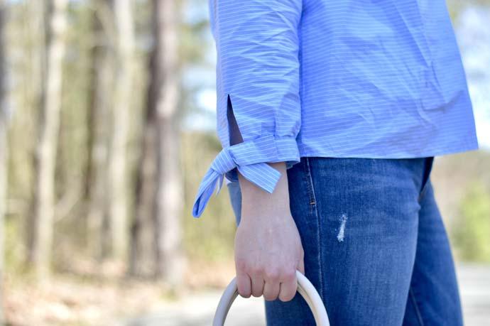 Cute Bow Sleeve Top @rachmccarthy7