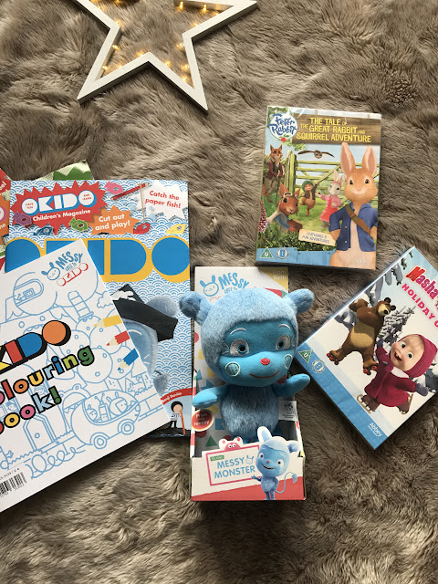 Messy goes to Okido Toy and Magazines, Peter Rabbit DVD and Masha and the Bear DVD - Christmas 2016 - Christmas Gift Guide - Emma in Bromely