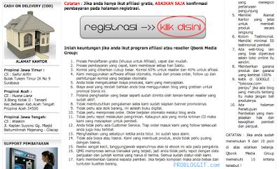 Cara Mendaftar dan Menghasilkan Uang Melalui Program Afiliasi / Affiliate Qboonk Media