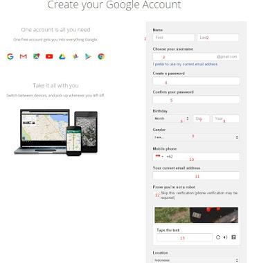 cara membuat akun gmail di komputer dan HP 02