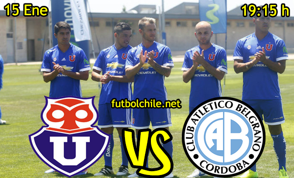 Ver stream hd youtube facebook movil android ios iphone table ipad windows mac linux resultado en vivo, online:  Universidad de Chile vs Belgrano