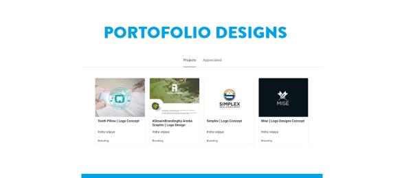 Website Portofolio untuk para Designer Grafis