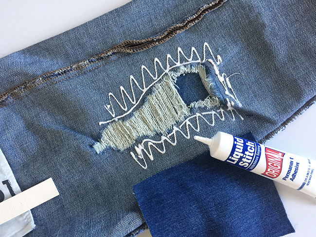 how to get glue out of jeans