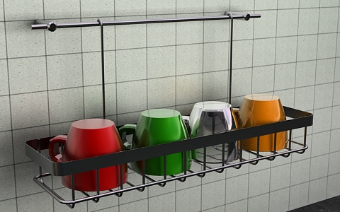glass rack 3d model free