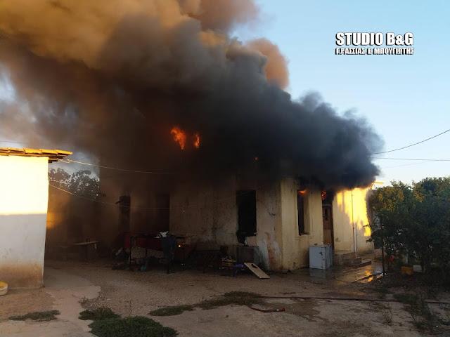 Αργολίδα: Κάηκε ολοσχερώς σπίτι στην Ήρα Άργους