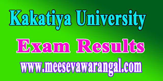 Kakatiya University LL.M (Old) 2nd Semester Exam Results