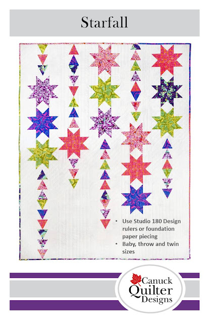 Cover of Starfall pattern by Canuck Quilter Designs