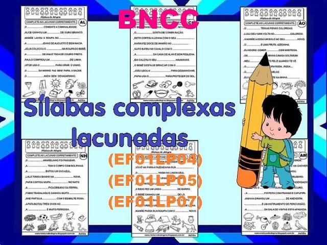 Fichas De Leitura Ensino Fundamental Silabas Complexas Mistura