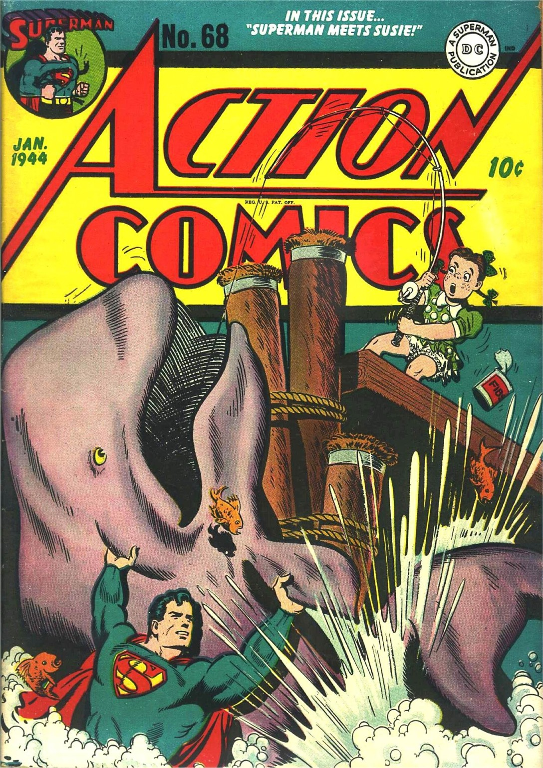 Read online Action Comics (1938) comic -  Issue #68 - 1