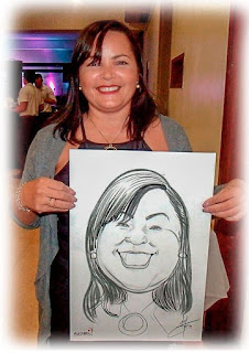 caricatura feita em evento de gravatá