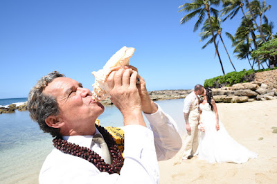 Conch Shell Blowing