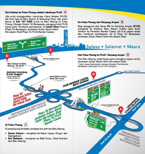 Kadar Bayaran Tol Jambatan Kedua Pulau Pinang 2018