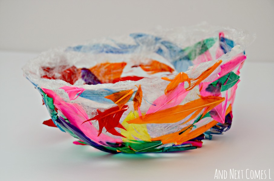 Feather bowl craft