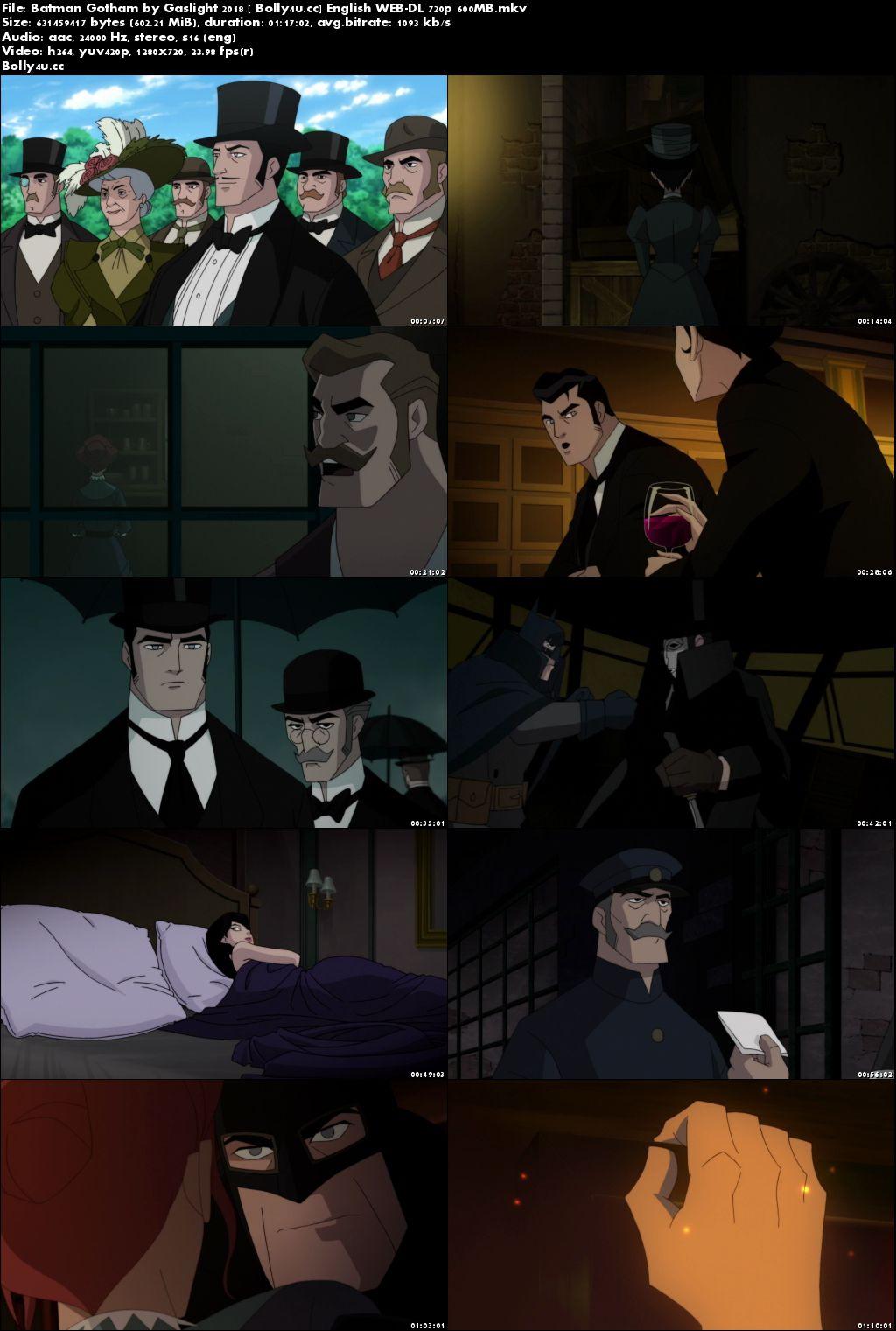 Batman Gotham by Gaslight 2018 WEB-DL 250MB English 480p