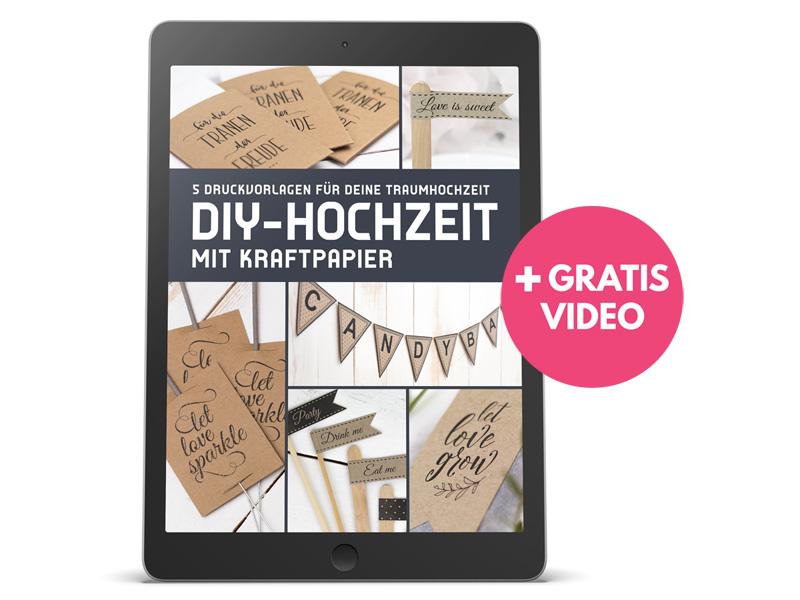 Gewinnspiel: E-Book Druckvorlagen für Freudentränen, Candy Bar Fähnchen, Girlande, let love sparkle Anhänger  die DIY-Hochzeit von Bonbon Villa