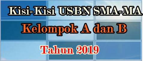 Kisi-Kisi USBN SMA-MA Kelompok A-B 2019
