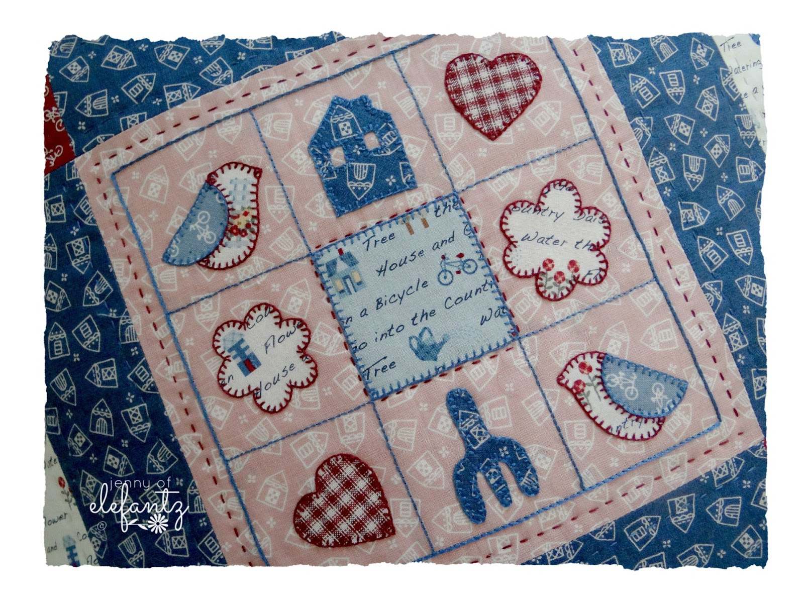 Jenny Of Elefantz Free Quot Country Square Quot Pillow Pattern