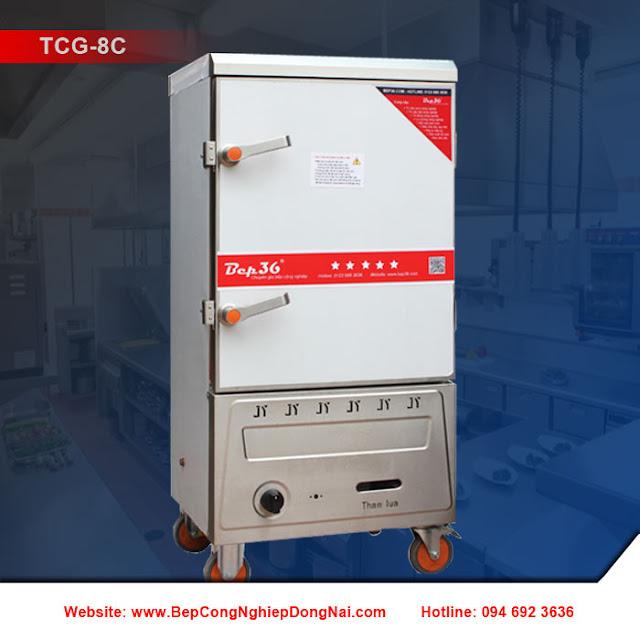 Tủ nấu cơm 8 khay dùng gas TCG-8C