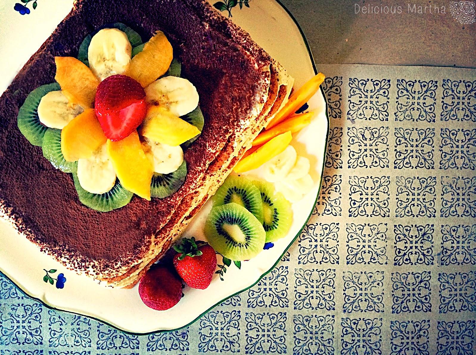 Tiramisú de frutas