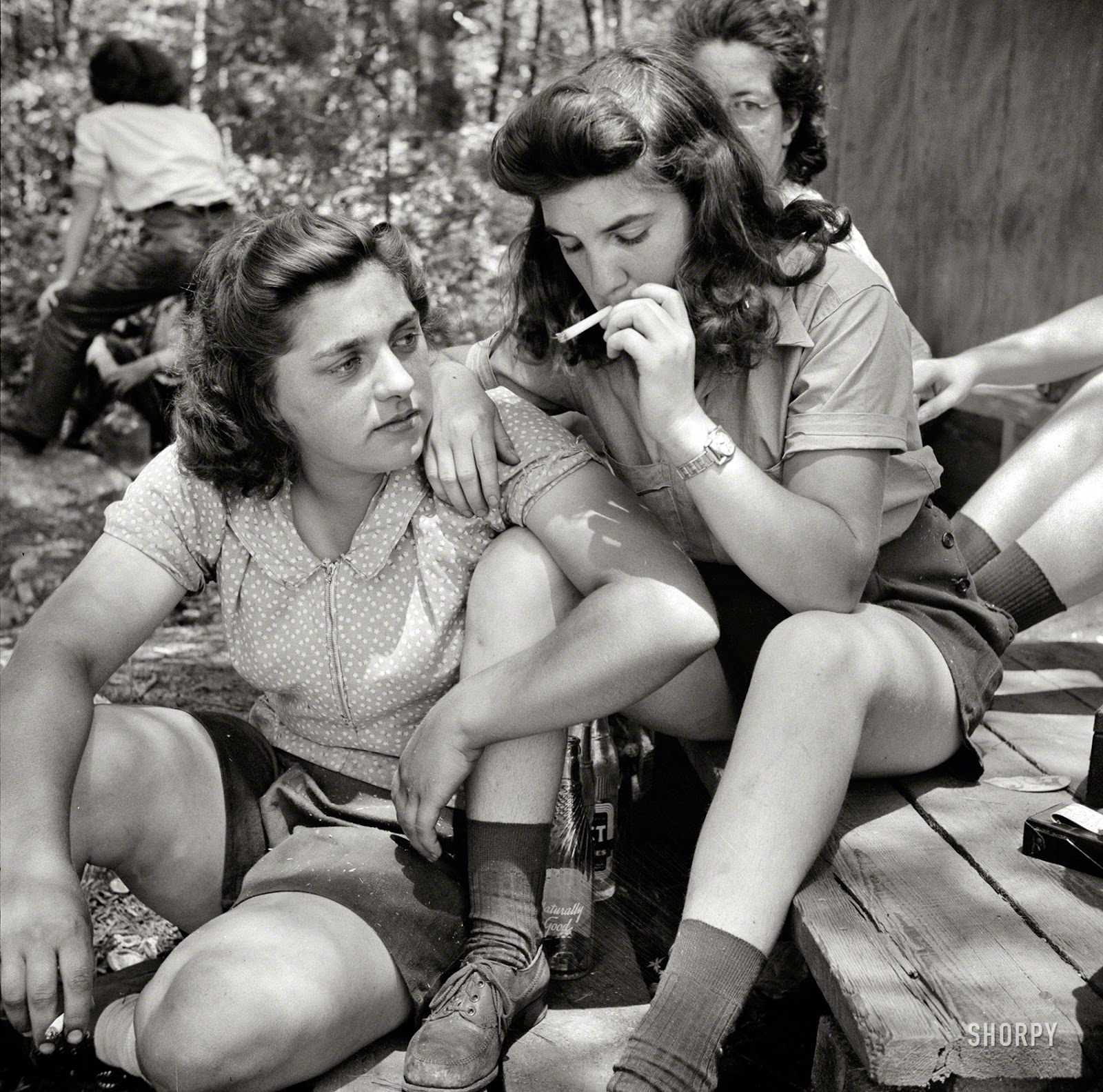 Relaxing After Lunch 1943 Vintage Everyday
