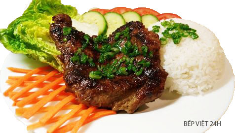 Cơm thịt nướng món ăn theo phong cách Châu Âu