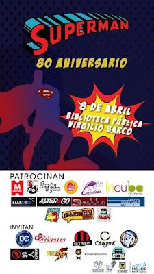 Poster Superman 80 Aniversario en la Biblioteca Virgilio Barco
