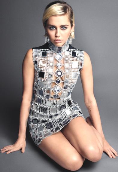 Foto de Miley Cyrus con cabello corto