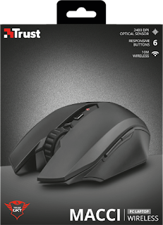 TRUST 22417 MOUSE WIRELESS GIOCO GXT 115
