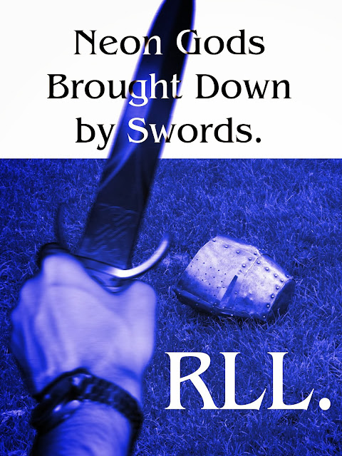 http://www.amazon.co.uk/Neon-Gods-Brought-Swords-Gods-ebook/dp/B006L3NE94/ref=sr_1_1?ie=UTF8&qid=1386080844&sr=8-1&keywords=rll