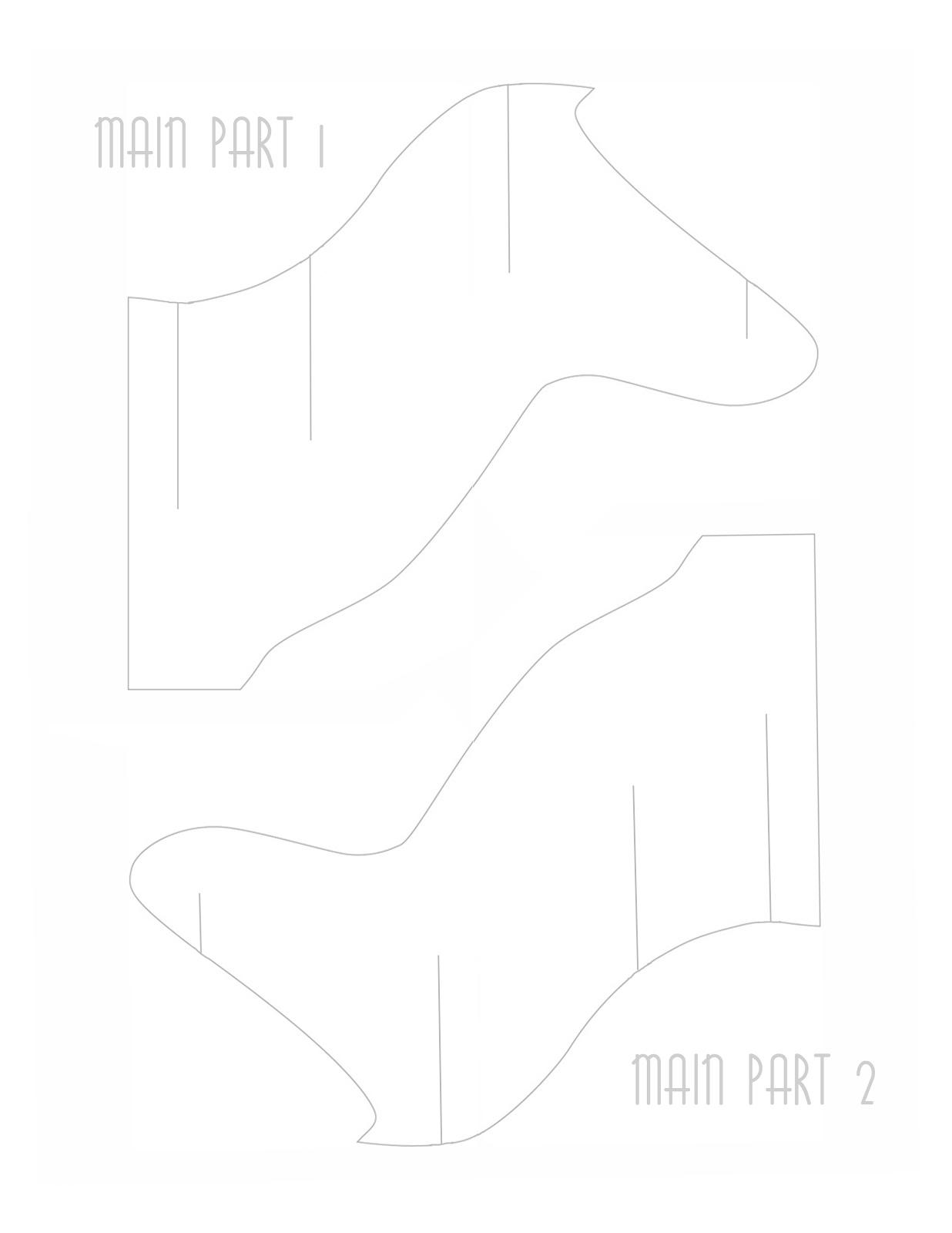 La reines blog das falsche elchgeweih aus papier diy for Free cardboard taxidermy templates