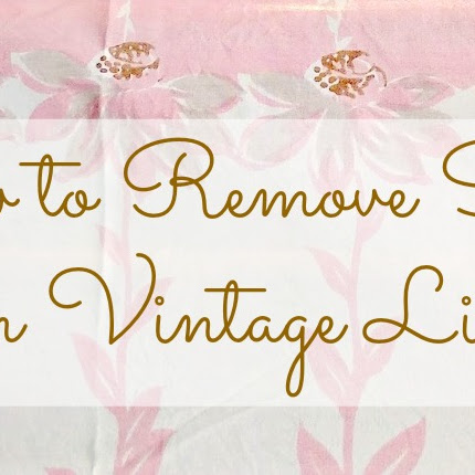 How to Remove Stains From Vintage Linens