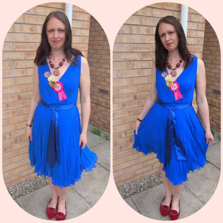 40 Today: Life Begins At 40? Blue Dress & Burgundy Shoes