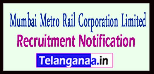 Mumbai Metro Rail Corporation Limited MMRCL Recruitment Notificaton