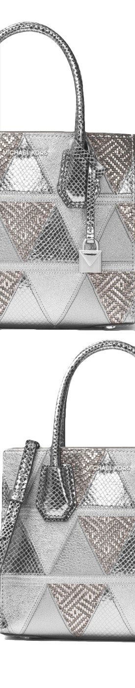 MICHAEL MICHAEL KORS Mercer Metallic Patchwork Leather Crossbody