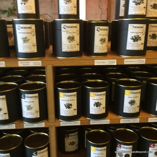 packaged teas to go at Far Leaves Tea in Berkeley, California