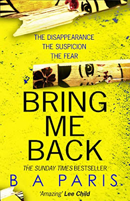 Book Review: Bring Me Back, by B.A. Paris, 5 stars