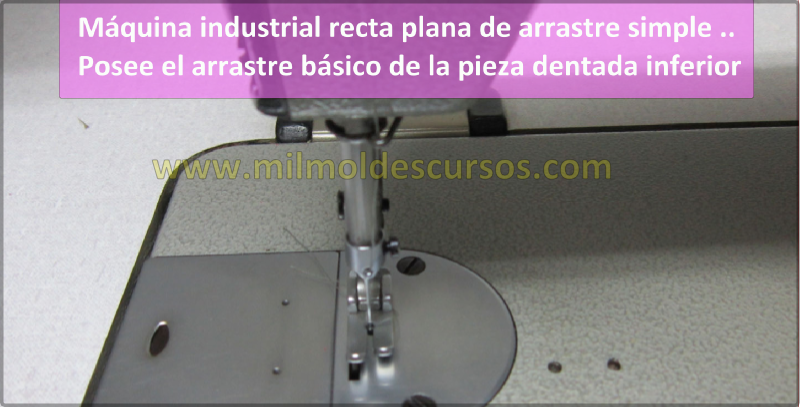 MAQUINA DE COSER INDUSTRIAL PLANA DE ARRASTRE SIMPLE