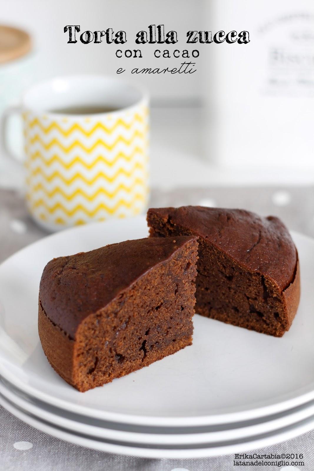 Torta Alla Zucca Con Cacao E Amaretti La Tana Del Coniglio