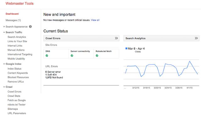 Công cụ Seo Google Webmaster Tool